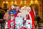 Brian, Rachel, Emma and Aaron Horgan.with Santa and Mrs Clause  at the Castleisland Christmas lights Event on Friday