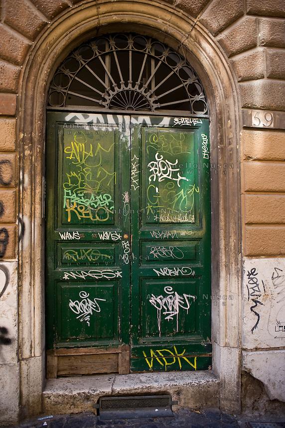 A main door in Trastevere.