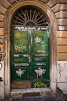 A main door in Trastevere.