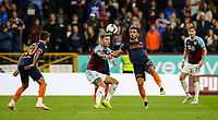 Istanbul Basaksehir's Irfan Can Kahveci vies for possession with Burnley's Jeff Hendrick<br /> <br /> Photographer Alex Dodd/CameraSport<br /> <br /> UEFA Europa League - Third Qualifying Round 2nd Leg - Burnley v Istanbul Basaksehir - Thursday 16th August 2018 - Turf Moor - Burnley<br />  <br /> World Copyright © 2018 CameraSport. All rights reserved. 43 Linden Ave. Countesthorpe. Leicester. England. LE8 5PG - Tel: +44 (0) 116 277 4147 - admin@camerasport.com - www.camerasport.com