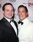 Ryan Ratelle & Nicholas Rodriguez attending the Broadway Dreams Foundation's 'Champagne & Caroling Gala' at Celsius at Bryant Park, New York on December 10, 2012