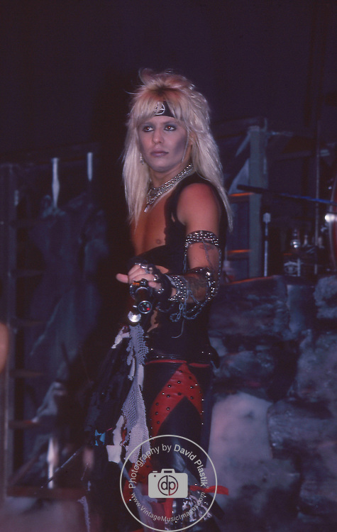 Vince Neil of Motley Crue Jan 1984 at New Haven Coliseum