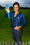 Dame Kelly Holmes who visited the Harriers Running Club on Thursday, displaying her 2 Gold and 1 Bronze Olympic medals.
