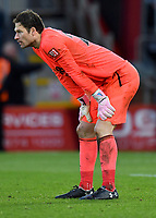 Bournemouth's Asmir Begovic<br /> <br /> Bournemouth 1 - 4 Tottenham Hotspur<br /> <br /> Photographer David Horton/CameraSport<br /> <br /> The Premier League - Bournemouth v Tottenham Hotspur - Sunday 11th March 2018 - Vitality Stadium - Bournemouth<br /> <br /> World Copyright &copy; 2018 CameraSport. All rights reserved. 43 Linden Ave. Countesthorpe. Leicester. England. LE8 5PG - Tel: +44 (0) 116 277 4147 - admin@camerasport.com - www.camerasport.com