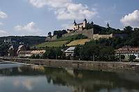 europe,germany,wurzburg,Marienberg Fortress,Main River