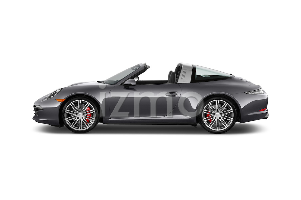 Car Driver side profile view of a 2015 Porsche 911 Targa 4S 2 Door Coupe Side View