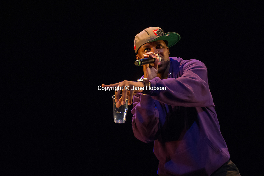 London, UK. 13.02.2014. Cindy Claes presents her Wild Card production of DANCEHALL TAKEOVER in the Lilian Baylis Studio, at Sadler's Wells. Picture shows: Hakeem Onibudo. Photograph © Jane Hobson.
