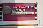 Sign for People's Bank, Colombo, Sri Lanka, Asia