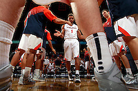 Virginia guard Justin Anderson (1) during an NCAA basketball game Saturday Feb. 7, 2015, in Charlottesville, Va. Virginia defeated Louisville  52-47. (Photo/Andrew Shurtleff)