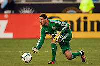 Columbus Crew goalkeeper Andy Gruenebaum (30). The Philadelphia Union defeated the Columbus Crew 3-0 during a Major League Soccer (MLS) match at PPL Park in Chester, PA, on June 5, 2013.