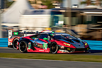 DAYTONA BEACH, FL - JAN 25: The #48 Lamborghini Huracan GT3 of Madison Snow, Bryan Sellers, Corey Lewis, and Andrea Caldorelli, of Italy races on the track during the Rolex 24 at Daytona at Daytona International Speedway, Daytona Beach, Florida,  January 25, 2020. (Photo by Brian Cleary/BCPix.com)