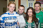 RESULTS: Checking out their Leaving Cert results at Presentation Secondary School in Milltown on Wednesday morning were, l-r: Michael O'Connell (Beaufort), Adam Waterworth (Beaufort), Jessica Moynihan (Ballyhar) and Niall McCarthy (Ballyhar).   Copyright Kerry's Eye 2008