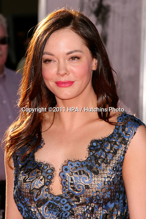 "LOS ANGELES - APR 27:  Rose McGowan arriving at the TCM Classic Film Festival Opening Night Gala And World Premiere Of ""An American In Paris"" at Grauman's Chinese Theater on April 27, 2011 in Los Angeles, CA.."