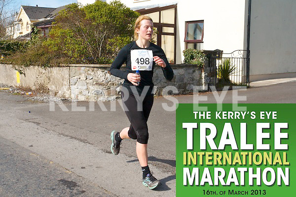 0498 Aoife O'Carroll who took part in the Kerry's Eye, Tralee International Marathon on Saturday March 16th 2013.