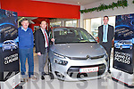 CAR OF THE YEAR: The new Citroen C4 Picasso Irish car of the year 2014 at Billy Naughton car sales Mile High, Tralee l-r: Billy Nauhton, Jimmy O'Sulliavn (sales manager) and Barry Ryan (sales executive).
