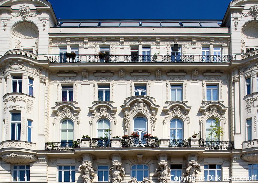 Wienzeilenh&auml;user,  Linle Wienzeile 36, Wien, &Ouml;sterreich, UNESCO-Weltkulturerbe<br /> Art Nouveau Wienzeilen-houses, Linke Wienzeile 36 Vienna, Austria, world heritage