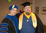 Dr. Doris Dwyer, left and Steve Vaughn prior to commencement at the Western Nevada College in Fallon, Nev., on Tuesday, May 20, 2014. <br /> Photo by Kim Lamb