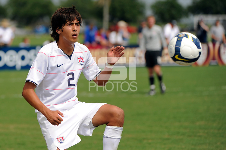 Emilio Orozco (2) of the USA. The US U-17 Men's National Team defeated the Development Academy Select Team 5-3 during day two of the US Soccer Development Academy  Spring Showcase in Sarasota, FL, on May 23, 2009.