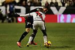 Rayo Vallecano's Luis Advincula and CD Leganes's Mikel Vesga during La Liga match between Rayo Vallecano and CD Leganes at Vallecas Stadium in Madrid, Spain. February 04, 2019. (ALTERPHOTOS/A. Perez Meca)