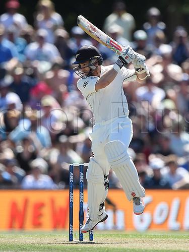 20.02.2016. Christchurch, New Zealand.  Kane Williamson batting. New Zealand Black Caps versus Australia. Day 1, 2nd test match, Hagley Oval in Christchurch, New Zealand. Saturday 20 February 2016.
