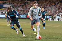 Melbourne, 24 July 2015 - Gareth Bale of Real Madrid runs with the ball in game three of the International Champions Cup match between Manchester City and Real Madrid at the Melbourne Cricket Ground, Australia. Real Madrid def City 4-1. (Photo Sydney Low / AsteriskImages.com)