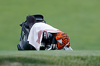 The bag of Tiger Woods (USA) sits on the green during the first round of the 118th U.S. Open Championship at Shinnecock Hills Golf Club in Southampton, NY, USA. 14th June 2018.<br /> Picture: Golffile | Brian Spurlock<br /> <br /> <br /> All photo usage must carry mandatory copyright credit (&copy; Golffile | Brian Spurlock)