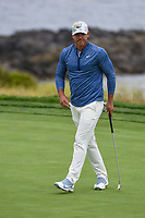 Brooks Koepka (USA) after sinking his putt on 8 during round 1 of the 2019 US Open, Pebble Beach Golf Links, Monterrey, California, USA. 6/13/2019.<br /> Picture: Golffile | Ken Murray<br /> <br /> All photo usage must carry mandatory copyright credit (© Golffile | Ken Murray)