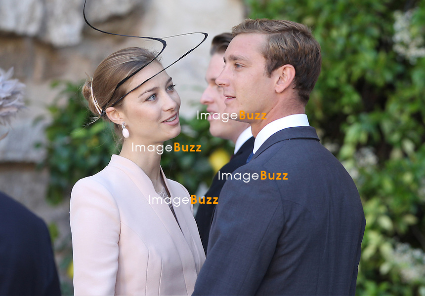 CPE/Pierre Casiraghi and girlfriend Beatrice Borromeo attend the Religious Wedding Of Prince Felix Of Luxembourg & Claire Lademacher at the Basilique Sainte Marie-Madeleine on September 21, 2013 in Saint-Maximin-La-Sainte-Baume, France.