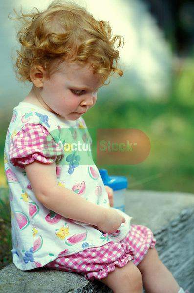 sad two year old girl