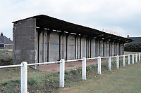 Covered area at Clipstone Welfare FC Football Ground, Lido Ground, Clipstone, Nottinghamshire, pictured on 12th July 1991