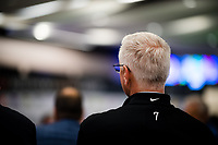 LOUISVILLE, KENTUCKY - MAY 03: Trainer Todd Pletcher  watches the Kentucky Derby Draw at Churchill Downs on May 3, 2017 in Louisville, Kentucky. (Photo by Douglas DeFelice/Eclipse Sportswire/Getty Images)
