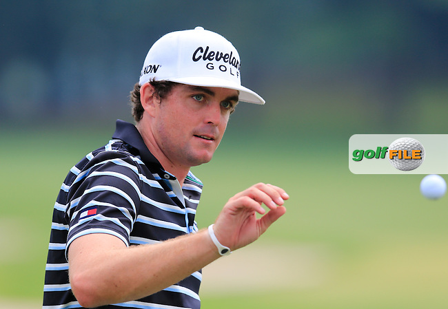 Keegan Bradley (USA) on the practice range during Wednesday's Practice Day of the 2013 Bridgestone Invitational WGC tournament held at the Firestone Country Club, Akron, Ohio. 31st July 2013.<br /> Picture: Eoin Clarke www.golffile.ie