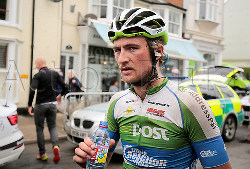 8th September 2017, Newmarket, England; OVO Energy Tour of Britain Cycling; Stage 6, Newmarket to Aldeburgh; Regan Gough of An Post Chain Reaction after the Stage 6 race