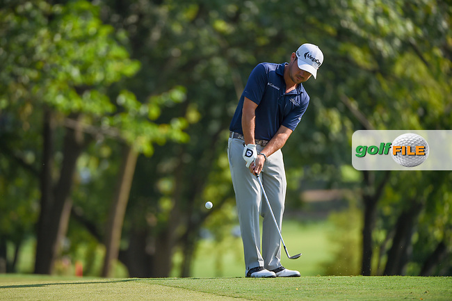 Brian Harman (USA) chips on to 9 during 2nd round of the 100th PGA Championship at Bellerive Country Club, St. Louis, Missouri. 8/11/2018.<br /> Picture: Golffile | Ken Murray<br /> <br /> All photo usage must carry mandatory copyright credit (© Golffile | Ken Murray)