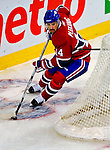 22 November 2008: Montreal Canadiens' center Tomas Plekanec from the Czech Republic in action during the first period against the Boston Bruins at the Bell Centre in Montreal, Quebec, Canada.  After a 2-2 regulation tie and a non-scoring 5-minute overtime period, the Boston Bruins scored the lone shootout goal thus defeating the Canadiens 3-2. The Canadiens, celebrating their 100th season, honored former Montreal goaltender Patrick Roy, and retired his jersey (Number 33) during pre-game ceremonies. ***** Editorial Use Only *****..Mandatory Photo Credit: Ed Wolfstein Photo *** Editorial Sales through Icon Sports Media *** www.iconsportsmedia.com