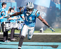 The Carolina Panthers defeated the Atlanta Falcons 34-10 in an inter-division rivalry played in Charlotte, NC at Bank of America Stadium.  Carolina Panthers wide receiver Brandon LaFell (11)