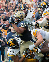 Pitt running back James Conner (24). Iowa Hawkeyes defeated the Pitt Panthers 24-20 at Heinz Field, Pittsburgh Pennsylvania on September 20, 2014.