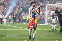 Real Madrid Alvaro Morata during the celebration of the 12th UEFA Championship won by Real Madrid  at Santiago Bernabeu Stadium in Madrid, June 04, 2017. Spain.<br /> Foto ALTERPHOTOS/BorjaB.Hojas/Insidefoto