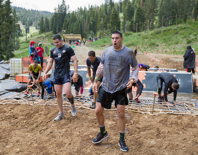A photograph taken during the Tough Mudder at Tahoe on Saturday, June 9 , 2018
