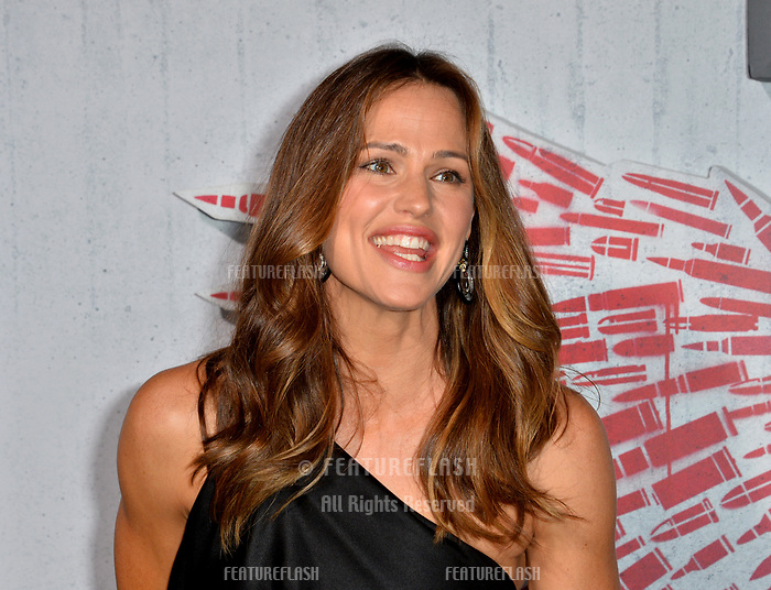 """LOS ANGELES, CA. August 28, 2018: Jennifer Garner at the world premiere of """"Peppermint"""" at the Regal LA Live."""