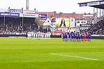09.11.2019, Stadion an der Bremer Brücke, Osnabrück, GER, 2. FBL, VfL Osnabrueck vs. VfB Stuttgart<br /> <br /> ,DFL REGULATIONS PROHIBIT ANY USE OF PHOTOGRAPHS AS IMAGE SEQUENCES AND/OR QUASI-VIDEO, <br />   <br /> im Bild<br /> Schweigeminute in Gedenken an Robert Enke. Feature / Symbol / Symbolfoto / charakteristisch / Detail<br /> <br /> <br /> Foto © nordphoto / Paetzel