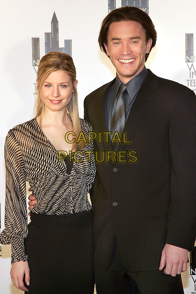 STEPHANIE GATSCHET & TOM PELPHREY.The MUSE Awards at the NY Hilton, New York, NY.  .December 13th, 2005.Photo: Jackson Lee/Admedia/Capital Pictures.Ref: JL/ADM.half length black suit jacket striped pattern.www.capitalpictures.com.sales@capitalpictures.com.© Capital Pictures.
