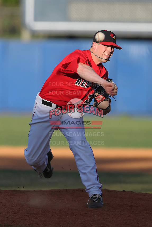 Illinois State Redbirds Justin Hauer #35 during a game against Army at Chain of Lakes Stadium on March 17, 2012 in Winter Haven, Florida.  Illinois State defeated Army 7-5.  (Mike Janes/Four Seam Images)