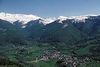 Europe/France/Midi-Pyrénées/09/Ariège/Aulus: Panorama de la vallée de Garbet, Vue aérienne
