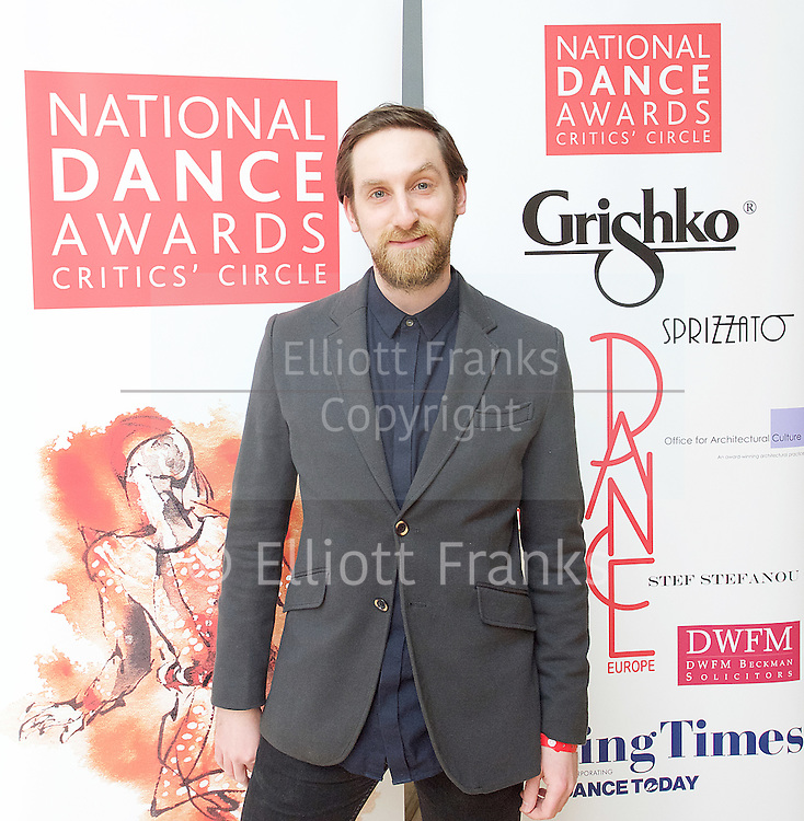 The Critics' Circle National Dance Awards 2016 <br /> at the Lilian Baylis Studio, Sadler's Wells, London, Great Britain <br /> <br /> 6th February 2017 <br /> <br /> Jonathan Watkins <br /> <br /> Photograph by Elliott Franks <br /> Image licensed to Elliott Franks Photography Services