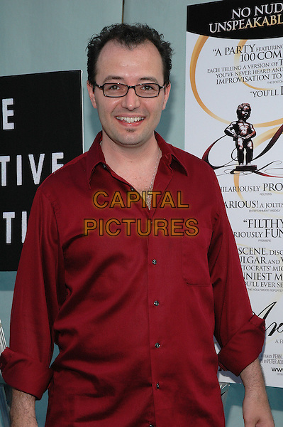 "ERIC MEAD.""The Aristocrats"" Premiere,.The Directors Guild Theater,.New York, 26th July 2005.half length half-length red shirt glasses.www.capitalpictures.com.sales@capitalpictures.com.© Capital Pictures."