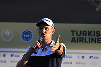 Justin Rose (ENG) wins the playoff hole and the tournament and also moves back to No.1 in the world at the end of Sunday's Final Round of the 2018 Turkish Airlines Open hosted by Regnum Carya Golf &amp; Spa Resort, Antalya, Turkey. 4th November 2018.<br /> Picture: Eoin Clarke | Golffile<br /> <br /> <br /> All photos usage must carry mandatory copyright credit (&copy; Golffile | Eoin Clarke)