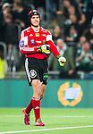 Stockholm 2014-03-04 Fotboll Svenska Cupen Hammarby IF - &Auml;ngelholms FF :  <br /> &Auml;ngelholms m&aring;lvakt Matt Pyzdrowski ler <br /> (Foto: Kenta J&ouml;nsson) Nyckelord:  HIF Bajen &Auml;ngelholm portr&auml;tt portrait glad gl&auml;dje lycka leende ler le