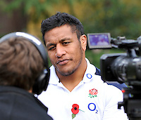 Bagshot, England.Mako Vunipola of England during the England training and Media session held at Pennyhill Park on November 8, 2012 in Bagshot, England.