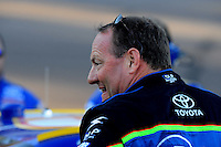 Nov. 7, 2008; Avondale, AZ, USA; NASCAR Sprint Cup Series driver Ken Schrader during qualifying for the Checker Auto Parts 500 at Phoenix International Raceway. Mandatory Credit: Mark J. Rebilas-